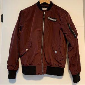 H & M | Burgundy Bomber-style Jacket